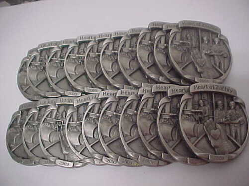 Lot of (20) HEART OF ZACHRY 2009 Pewter Safety Award Medallion