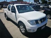 2010 Nissan Navara D40 RX (4x4) White 5 Speed Automatic Dual Cab Pick-up Cannington Canning Area Preview