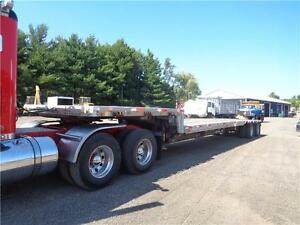 2001 LODE KING 48'FT ALUMINUM COMBO TRAILER, CHANEGABLE SPREAD