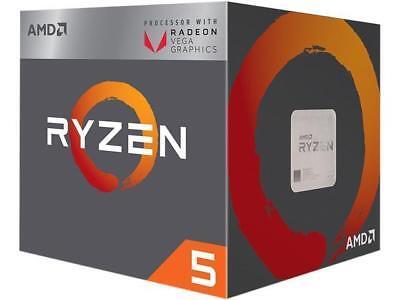AMD RYZEN 5 2400G Quad-Core 3.6 GHz (3.9 GHz Turbo) Socket AM4 65W YD2400C5FBBOX