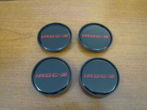 "85 to 87 Camaro IROC 16"" Wheel Center Inserts Red"