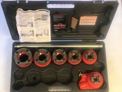 Ridgid Manual Pipe Threader Six 12r Die Heads 12-2 Plastic Case 700 Power Pony