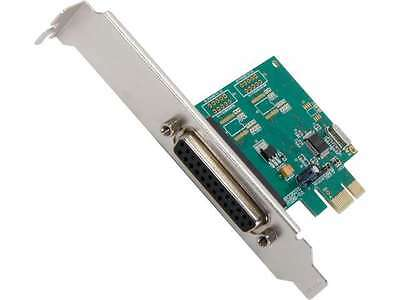 SYBA Parallel 1 Port PCI-e Controller Card with Full & Low Profile Brackets, WCH