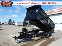 14ft 5 TON DUMP TRAILER W/ HIGH SIDE  4 FEET WALL EXTENSIONS!! London Ontario Preview