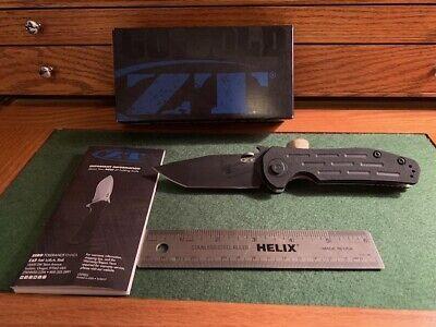 "Zero Tolerance Emerson 0620 Folding Knife 3.6"" Black ELMAX Blade, G10/Titanium"