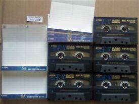 JL £17 FP&P 5x TDK SA 90 SA90 TYPE 2 CHROME CASSETTE TAPES 1997-2002 W/ CARDS CASES LABELS
