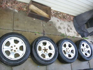 Subaru Rims&Tires 5x100- 215/60/16(Two BRAND NEW TIRES)$225