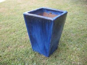Blue Glazed Ceramic Planters $38 each or 2 for $70 Albion Brisbane North East Preview