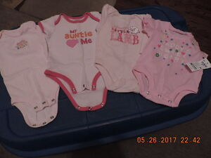 Girl's Novelty Onesies Size 0-3 months & 3-6months