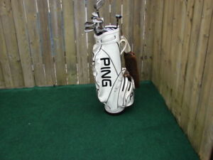 Men's Right Hand Ping golf club sets with Ping Golf bag
