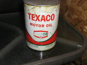 Texaco RED oil cans