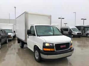 2017 GMC SAVANA cutaway cube van 3500 12 feet box GVWR just 4491