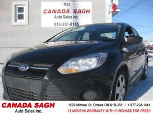 2014 Ford Focus, ONLY 88K, MAN, 12 M WRTY+SAFETY ONLY $6990