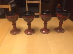 Wine Goblets - Allan Pace Designs Pottery