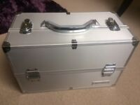 Genuine Arbonne silver/chrome make up case