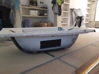 Bette Starlet 165x70cm bath tub with steel bath cradle - NEW
