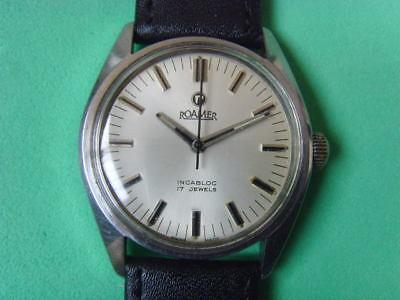 Vintage Swiss ROAMER 17J Mechanical Manual Used Watch