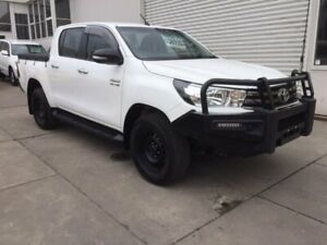 2016 Toyota Hilux GUN126R SR Double Cab White 6 Speed Sports Automatic Utility Colac Colac-Otway Area Preview