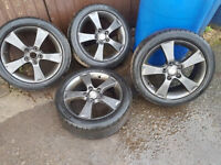 """17"""" MAZDA ALLOYS WITH AS NEW TYRES"""