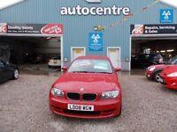 BMW 1 SERIES 2.0 120D ES 2d 175 BHP DIESEL (red) 2008
