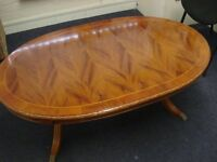 Golden Yew Coffee Table,very good condition. Priced to sell.