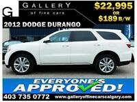 2012 Dodge Durango SXT AWD $189 bi-weekly APPLY NOW DRIVE NOW