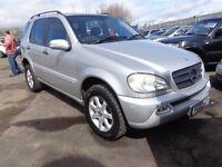 2002 02 reg mercedes ml 270 cdi diesel auto mot 1 year 7 seater ex we 4x4 £2195