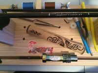 Fishing rod building tools and one free rod