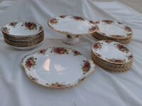Royal Albert Old Country Roses plates and bowles