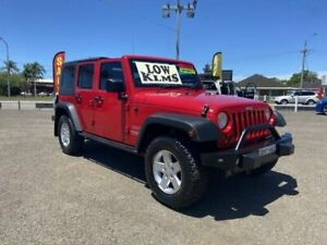 2010 Jeep Wrangler Unlimited JK MY09 Sport (4x4) Red 6 Speed Manual Softtop Broadmeadow Newcastle Area Preview