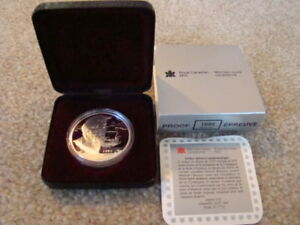 1995 Canadian Proof Silver Dollar - Mint with Case