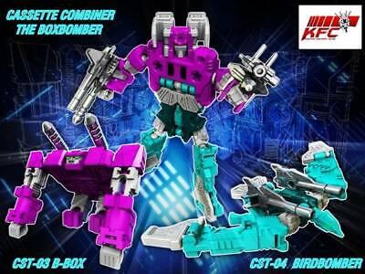 Transformers KFC cst-03 04 Birdbomber B-box Squawktalk Beastbox cassette tape