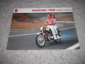 1966 Suzuki 150 S32-2  Brochure
