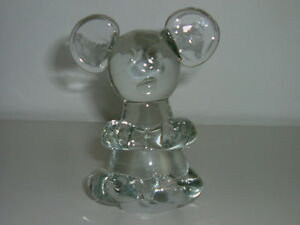PETIT OURSON DE MURANO  EN VERRE SOUFFLE ART GLASS BEAR