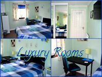 DAILY - WEEKLY - MONTHLY LET - LUXURY DOUBLE & TRIPLE ROOMS -FREE WI FI - SHORT TERM