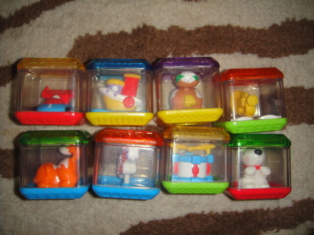 LOT OF 8 FISHER PRICE PEEK A BOO BLOCKS FOR INTEREACTIVE CUBE