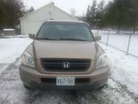 2003 Honda Pilot, Cruise, A/C, Leather, Cert/Etested, Seats 8!!!