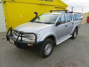 2011 Mitsubishi Triton Turbo Diesel 4WD GLX Silver 4 Speed Automatic Dual Cab