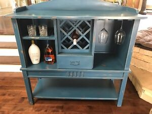 distressed paint buffet
