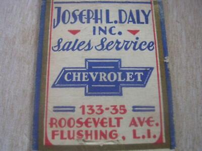 1940's Joseph L Daly Inc CHEVROLET 133-35 Roosevelt Ave Flushing L I (Roosevelt Ave Flushing)