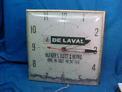 1950s DeLAVAL CREAM SEPARATOR Illuminated WALL CLOCK by PAM Not Working