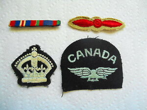 4 VINTAGE MILITARY BADGES AND PINS