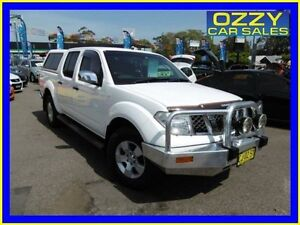 2006 Nissan Navara D40 ST-X (4x2) White 5 Speed Automatic Dual Cab Pick-up Penrith Penrith Area Preview