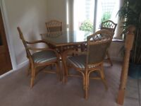Table & 4 carver chairs.