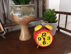 Vintage Mini Bradley West German Twin Bell alarm clock