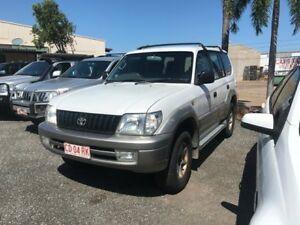 2001 Toyota Landcruiser PRADO GXL White 4 Speed Auto Active Select Wagon Winnellie Darwin City Preview