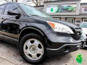 '09 Honda CR-V LX+Alloy+Cruise+Cert+1-Owner! $131/Pmts!
