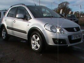SUZUKI SX4 4GRIP 2.0 DDIS 5 DR 4WDRIVE SILVER I OWNER FSH SEE VIDEO CLIP FOR MOR DETAILS