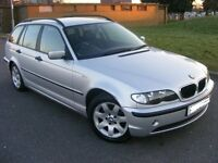 bmw 320d estate auto, 02 reg, mot aug, 140k miles, full heated leather, towbar £850 kilmarnock