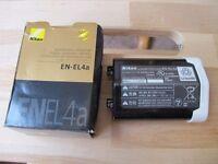 Nikon EN-EL4a battery-nearly new